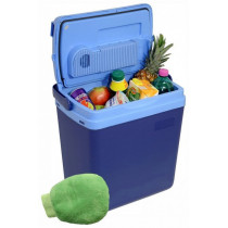 Chladiaci box 25litrov BLUE 220 / 12V displej s teplotou + ohrev