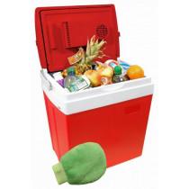 Chladiaci box 30litrů RED 220 / 12V displej s teplotou + ohrev